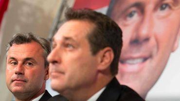 Norbert Hofer et Heinz Christian Strache le 24 mai 2016 à Vienne.