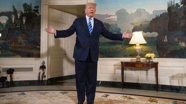 Donald Trump à la Maison Blanche, à Washington, le 8 mai 2018
