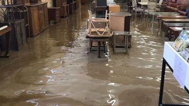 Grâce-Hollogne: la Ressourcerie fermée à cause des inondations
