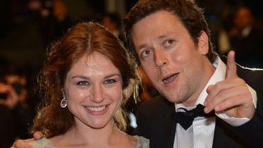 Emilie Dequenne et Joachim Lafosse en mai 2012, à Cannes