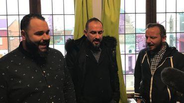 Salvatore, Stéphane et Christophe en pleine répétition dans leur studio de Frameries