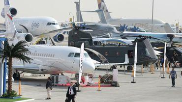 Au salon aéronautique de Dubai, le 12 novembre 2017