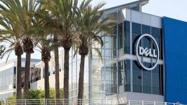 Le logo Dell sur un des bâtiments de l'entreprise à Santa Clara en Californie