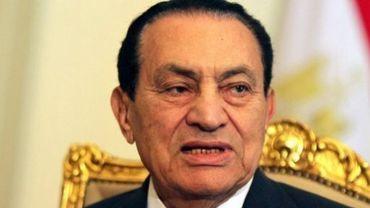L'ex-président égyptien Hosni Moubarak au Caire, le 8 février 2011