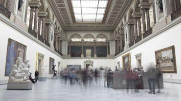 L'entrée des Musées royaux des Beaux-Arts