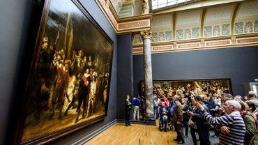 """""""La Ronde de nuit"""" de Rembrandt, au Rijksmuseum, à Amsterdam"""