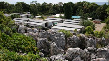 Camp sur l'île de Nauru