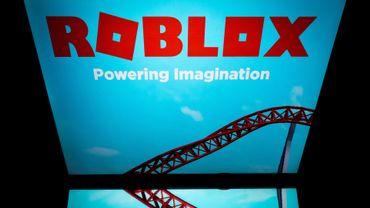 """""""Roblox"""" sur une tablette à Paris, le 1er février 2019"""