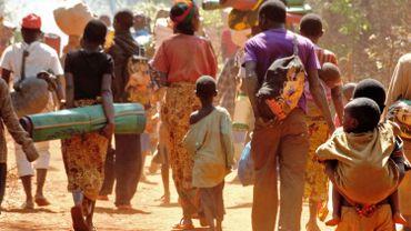 Réfugiés en fuite vers la Tanzanie