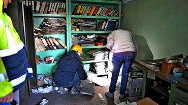 Sauvetage des archives des usines Boël.