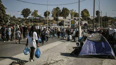 La détresse des migrants à Lesbos