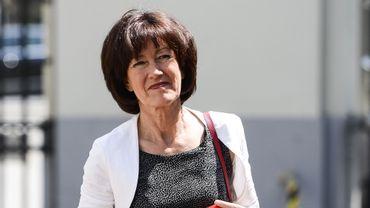 La présidente de la fédération bruxelloise du PS, Laurette Onkelinx.