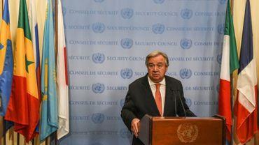 Le secrétaire général des Nations unies Antonio Guterres, le 5 décembre 2017 à New York