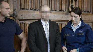 L'accusé Jonathan Lekeu photographié durant son procès.