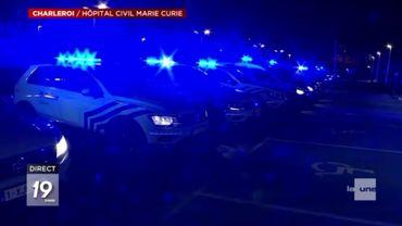 La police a rendu hommage à sa façon au personnel des hôpitaux