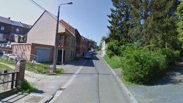 La rue de Parsegnies à Binche, théâtre du drame