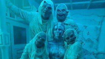 Heidi Klum a tourné un film d'Halloween en famille