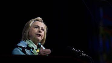 Hillary Clinton , candidate démocrate à la présidentielle de 2016