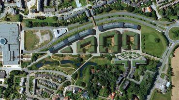 """Une projection des futurs """"Jardins de Courbevoie"""", à Louvain-la-Neuve."""
