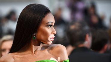 Le mannequin canadien Winnie Harlow sur le tapis rouge du dernier Festival de Cannes