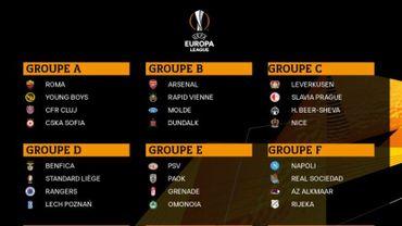 Le Standard contre Benfica, les Rangers et Lech Poznan, découvrez aussi les groupes de Gand et de l'Antwerp