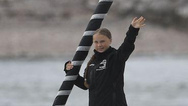 Greta Thunberg arrive à New York à bord du voilier zéro carbone