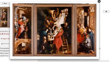 """La """"Descente de croix"""", de Rubens, un des multiples clichés de l'IRPA"""