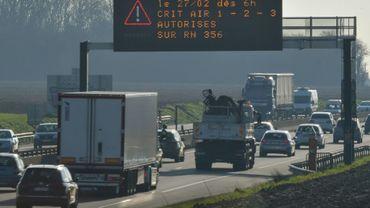 Restrictions de circulation des véhicules les plus polluants, le 27 février 2019 à Englos, près de Lille