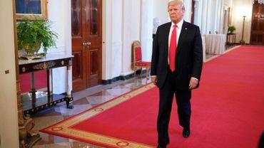 Le président américain Donald Trump à la maison Blanche le 22 août 2018