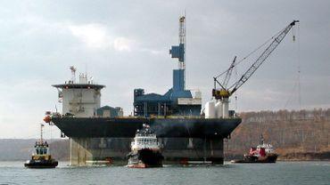 Illustration: une plateforme pétrolière russe