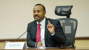 Le Premier ministre éthiopien Abiy Ahmed s'adresse aux députés le 30 novembre 2020 à Addis Ababa.