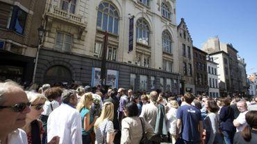 Cérémonie d'hommage au Musée juif de Bruxelles en 2015