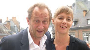 Benoit Poelvoorde et Chloé Colpé