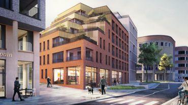 Vue du futur projet (rue de la raquette-gouvernement provincial à l'arrière)