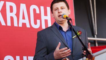 John Crombez, secrétaire d'Etat à la Lutte contre la fraude sociale et fiscale était présent à la fête du 1er mai dans sa commune d'Ostende.