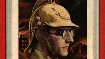 """Dimitri Chostakovitch en uniforme de sapeur pompier volontaire fait la """"une"""" de Time Magazine : il a dédié sa 7eme symphonie à sa ville, Leningrad assiégée par les troupes d'Hitler. l'oeuvre devient aussitôt un """"hit"""" et est créée en URSS, en Grande-Bretagne et aux Etats-Unis dès le printemps 1942."""