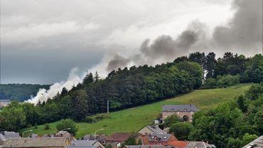 Incendie au centre de tri de Rochefort : important dégagement de fumée, mais pas d'émanations toxiques.