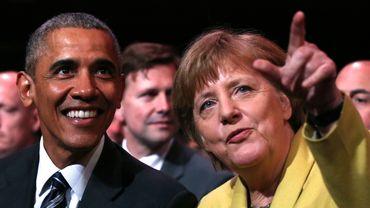 Barack Obama et Angela Merkel ce dimanche 24 avril 2016 à Hanovre.