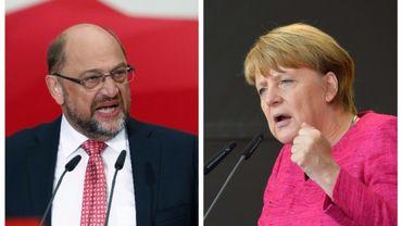 En Allemagne, Merkel et son rival terminent la campagne dans leur fief