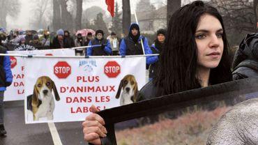 Manifestation en France contre l'utilisation des animaux dans les laboratoires