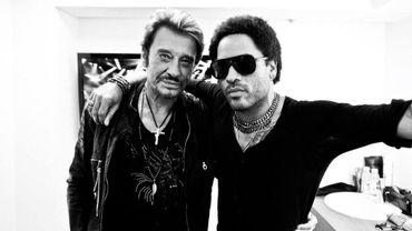 Johnny Hallyday et Lenny Kravitz
