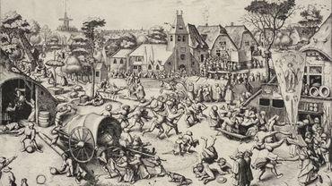 La Kermesse de la saint Georges (Joannes et Lucas van Doetecum d'après Pieter Bruegel l'Ancien), ca 1559