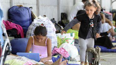 Les populations Roms, souvent exclues. Ici, à Saine-SaintDenis, en France