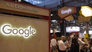 Stand de Google au salon Viva Technology à Paris