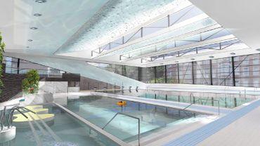 Liège: coup d'envoi des travaux à la piscine Jonfosse