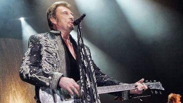 Johnny Hallyday, sur la scène de l'Olympia, à Paris, le 04 décembre 2006.