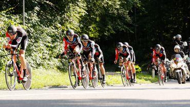 BMC pendant le contre-la-montre par équipes au Tour de Suisse
