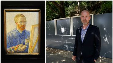 Auto-portrait de Vincent Van Gogh et Wouter Van der Veen, directeur de l'Institut van Gogh.