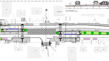 Plan de détail du futur plateau rue Fernand Hanchir