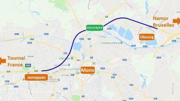 Reprise des travaux préparatoire sur l'E42-E19/A7 entre Obourg et Jemappes